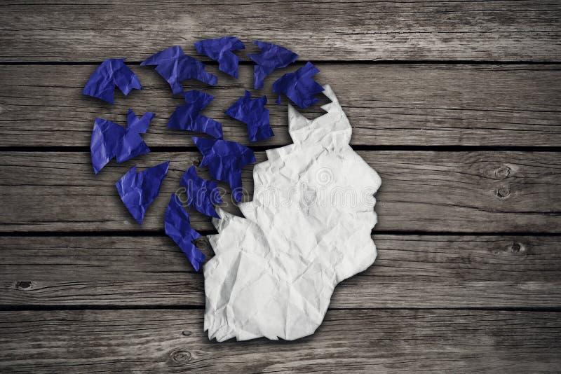 Concepto mental médico paciente de la atención sanitaria de Alzheimer fotos de archivo libres de regalías