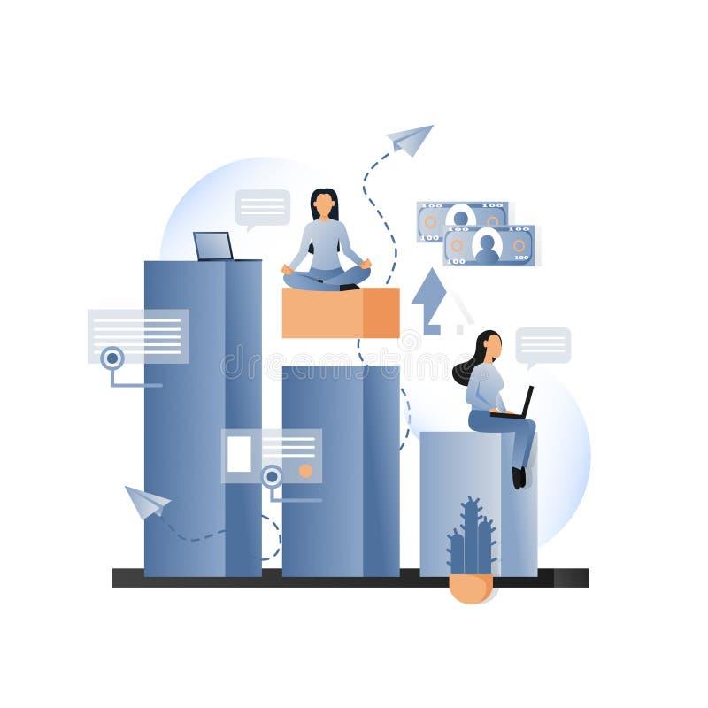 Concepto metafórico del vector del negocio para la bandera de la web, página de la página web libre illustration