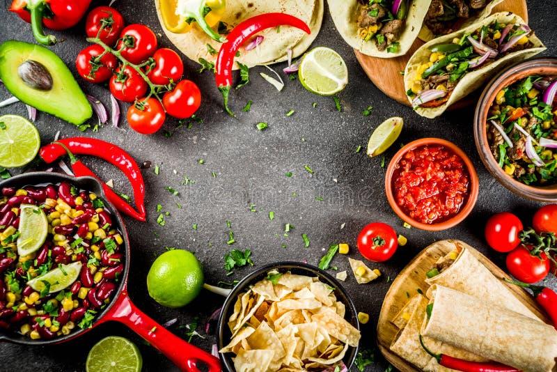 Concepto mexicano de la comida Comida de Cinco de Mayo foto de archivo libre de regalías