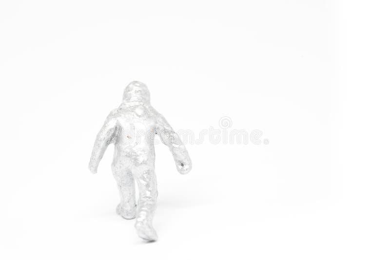 Concepto miniatura de la construcción de los bomberos de la gente en el backgroun blanco imágenes de archivo libres de regalías