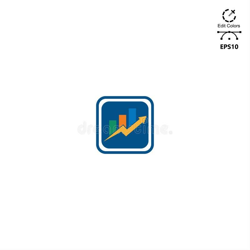 concepto minimalista del diseño financiero del logotipo ilustración del vector