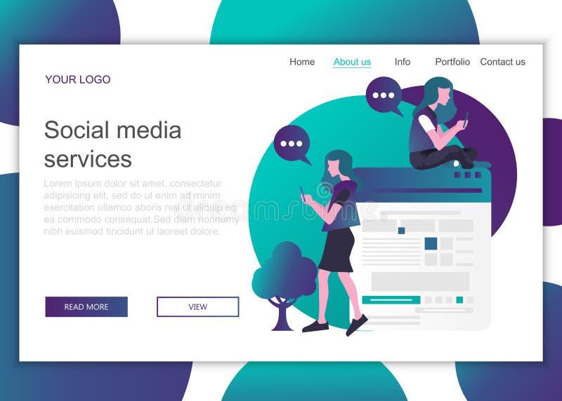 Concepto moderno de diseño plano del diseño de páginas web para sitios web y sitios web móviles Plantilla de página de inicio de  ilustración del vector