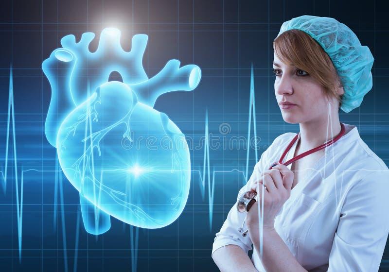 Concepto moderno de la cardiología de la medicina imagenes de archivo