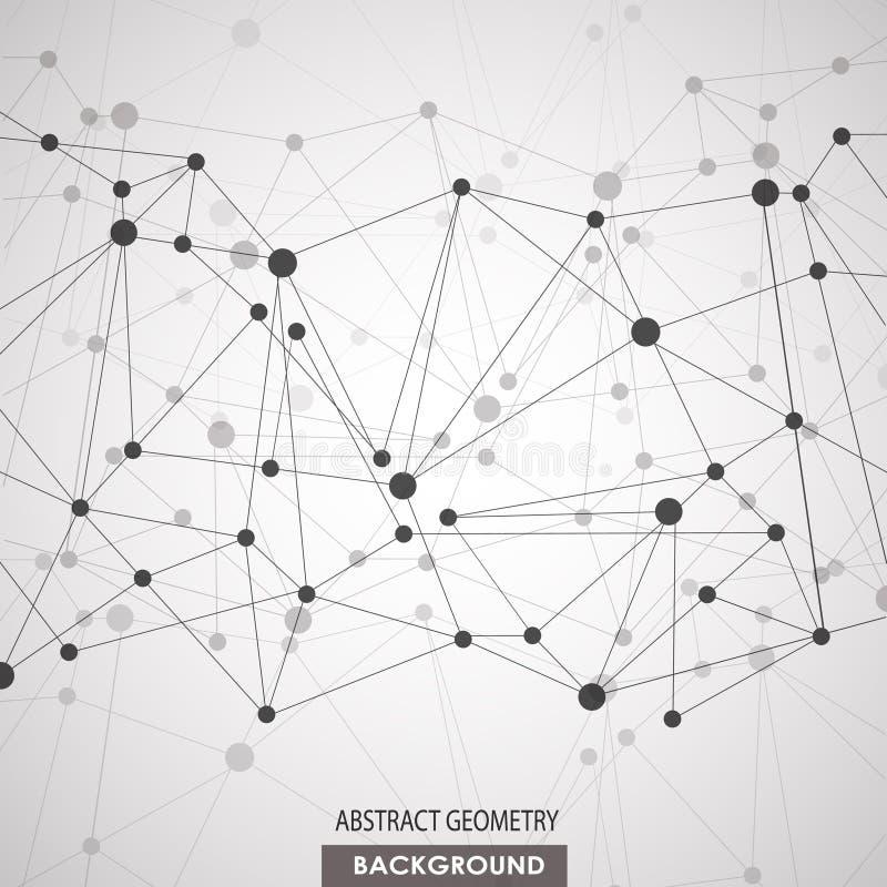 Concepto molecular de las conexiones de la DNA del vector libre illustration