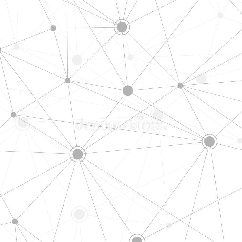Concepto molecular de neuronas y de sistema nervioso Investigación médica científica Estructura de la molécula con las partículas stock de ilustración