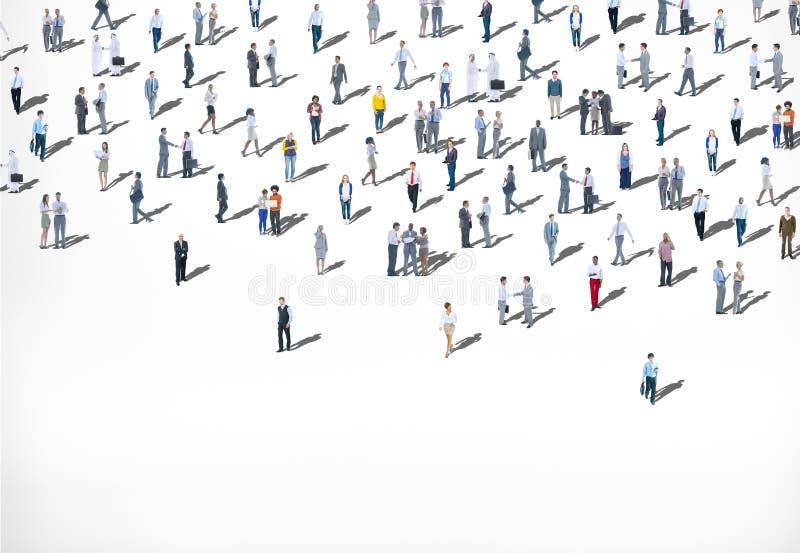 Concepto multiétnico de la diversidad del grupo de personas grande de la muchedumbre imagen de archivo