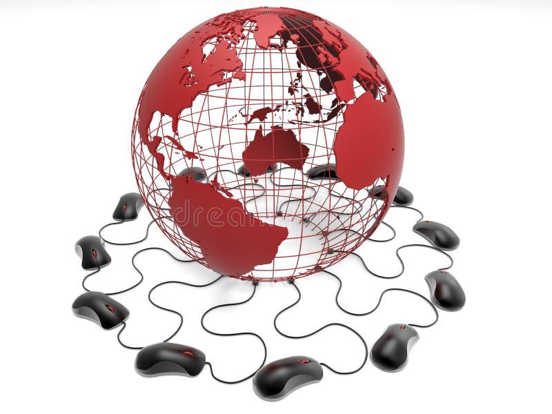 Concepto mundial de la conexión libre illustration
