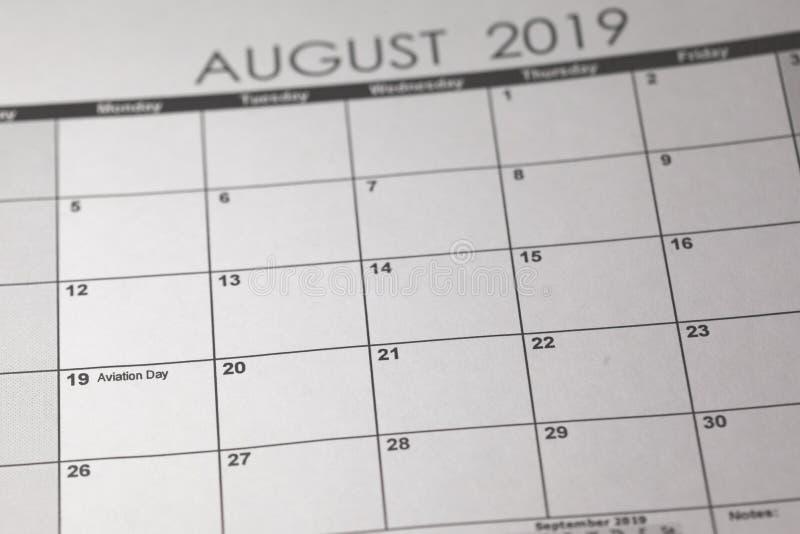 Concepto nacional del día de la aviación de los E.E.U.U. 19 de agosto de 2019 fotos de archivo libres de regalías