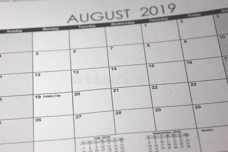 Concepto nacional del día de la aviación de los E.E.U.U. 19 de agosto de 2019 imágenes de archivo libres de regalías