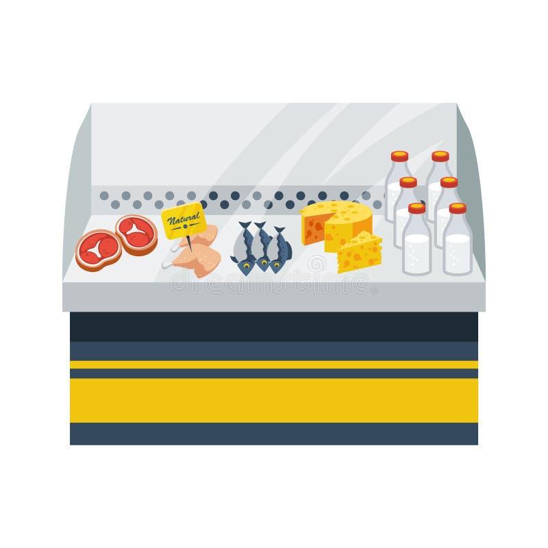 Concepto natural del alimento ilustración del vector