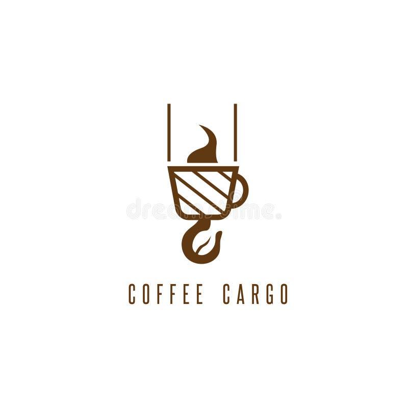 Concepto negativo del espacio del cargo del café con la haba libre illustration