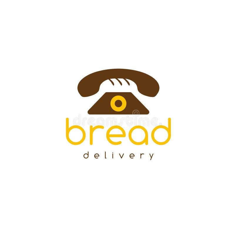 Concepto negativo del espacio del vector de la entrega del pan libre illustration