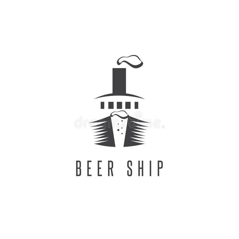 Concepto negativo del vector de espacio de cerveza stock de ilustración
