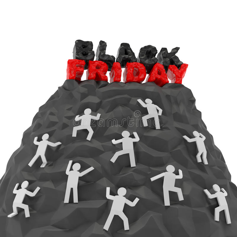 Concepto negro de viernes libre illustration