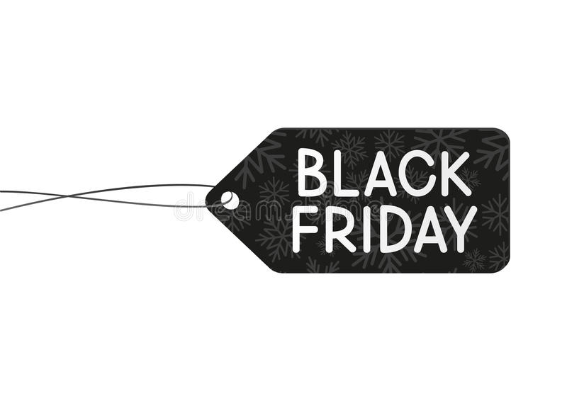Concepto negro de viernes stock de ilustración