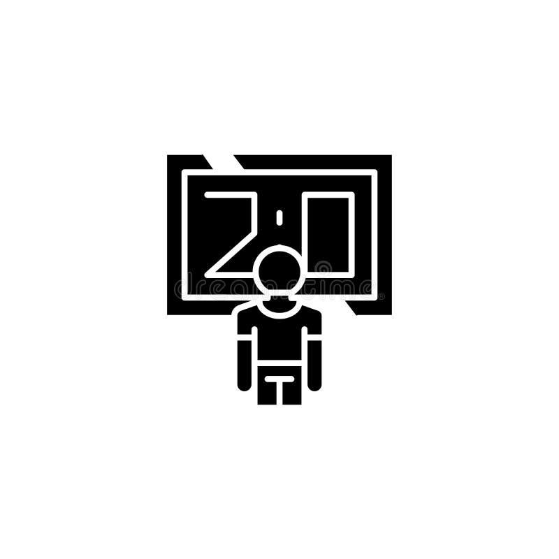 Concepto negro del icono de la cuenta Anote el símbolo plano del vector, muestra, ejemplo libre illustration
