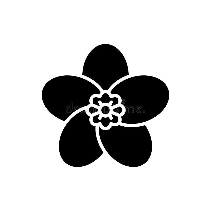 Concepto negro del icono de la flora Símbolo plano del vector de la flora, muestra, ejemplo stock de ilustración