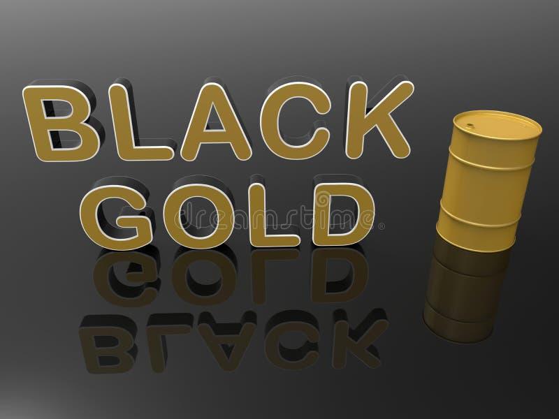 Concepto negro del oro ilustración del vector