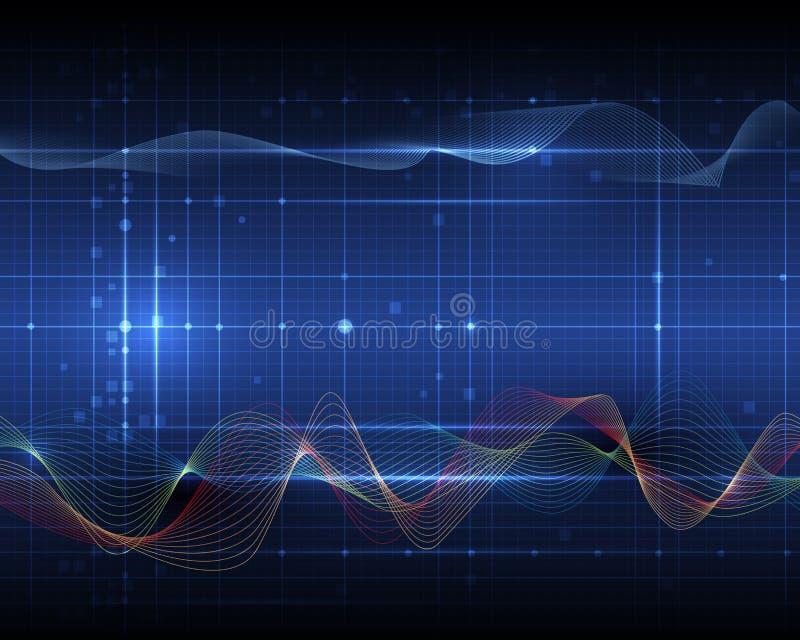 Concepto onda-digital futurista abstracto de la tecnología libre illustration