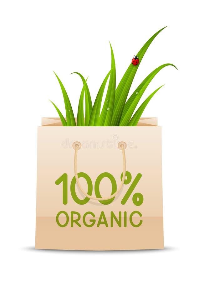 Concepto orgánico con el panier libre illustration