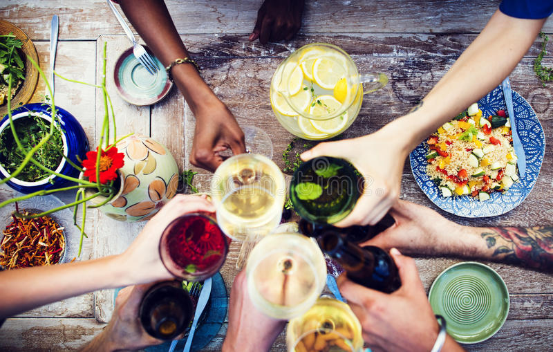 Concepto orgánico delicioso sano de la comida de la tabla de la comida foto de archivo