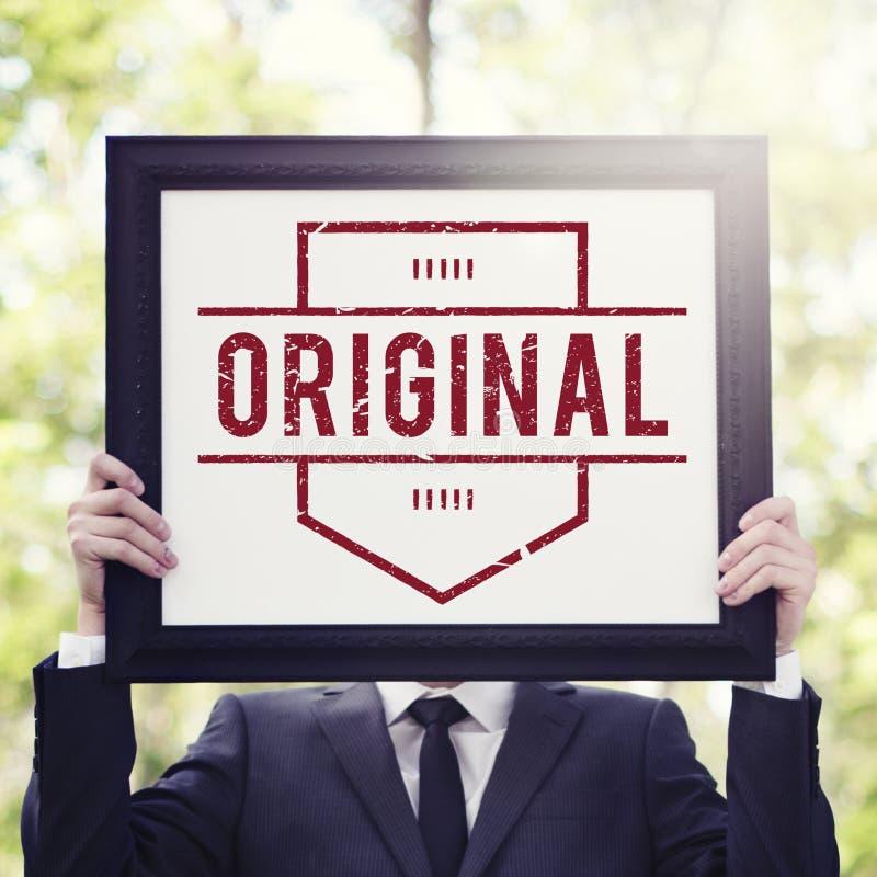 Concepto original del gráfico de la marca registrada del producto de la patente de la marca foto de archivo libre de regalías