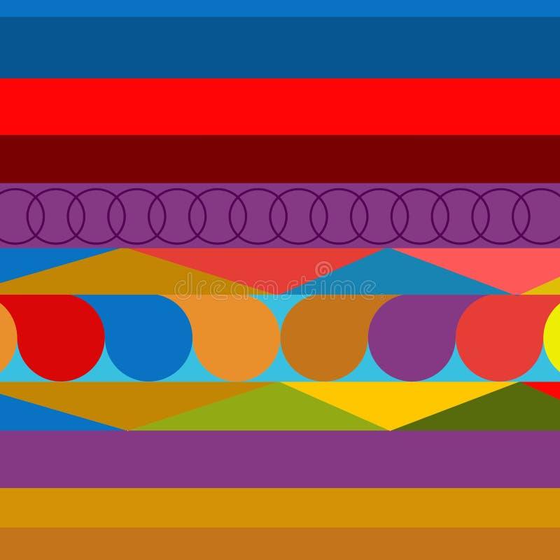 Concepto ornamental del fondo colorido para el negocio stock de ilustración
