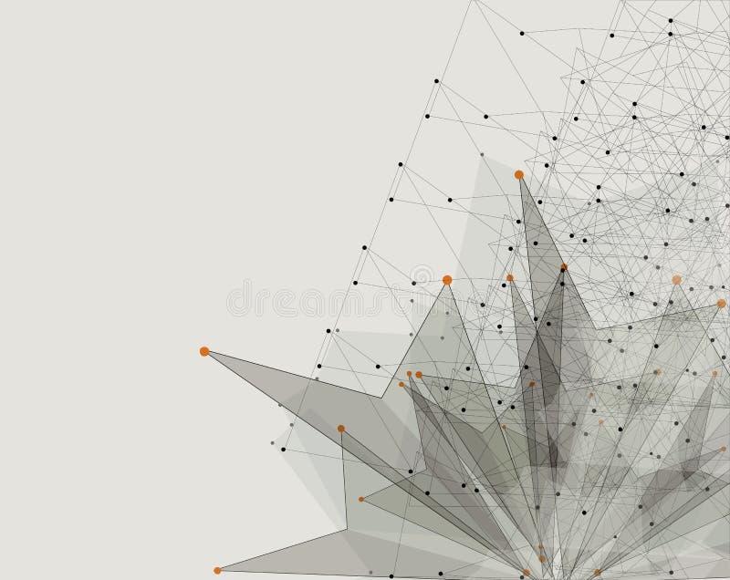 Concepto para el negocio corporativo y el desarrollo de la nueva tecnología ilustración del vector