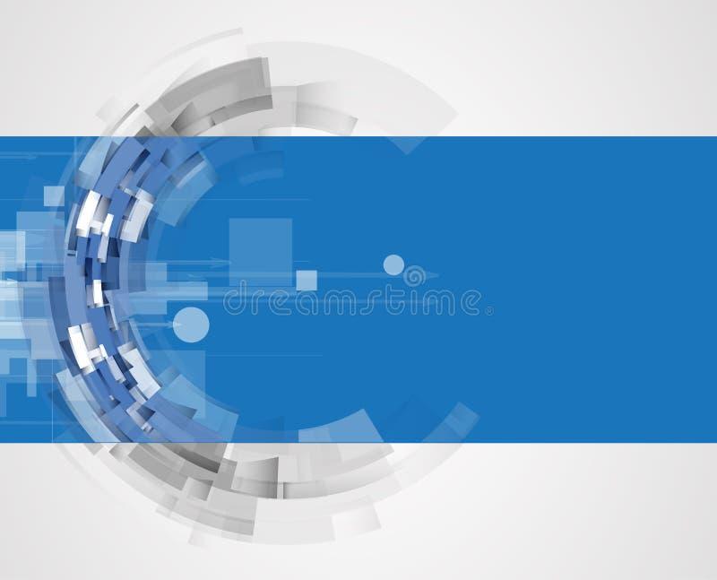Concepto para el negocio corporativo y el desarrollo de la nueva tecnología libre illustration