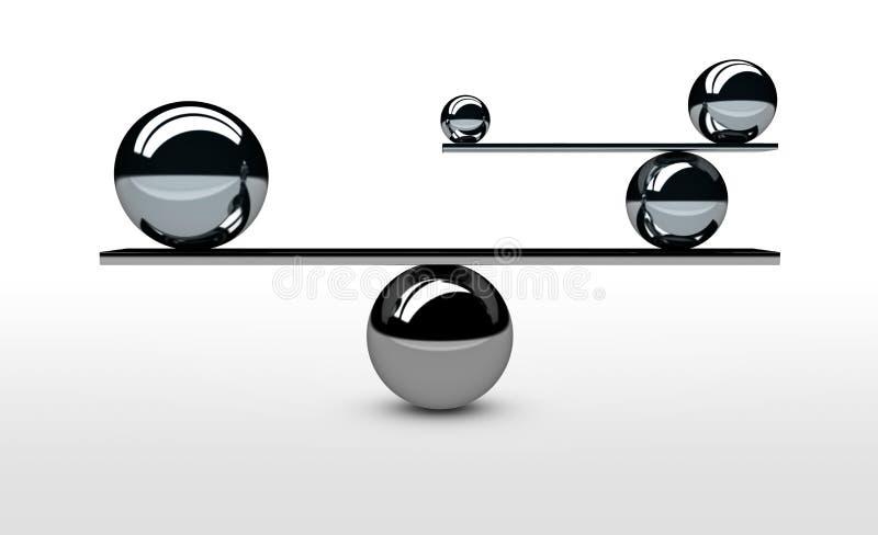 Concepto perfecto de equilibrio de la balanza de sistema ilustración del vector