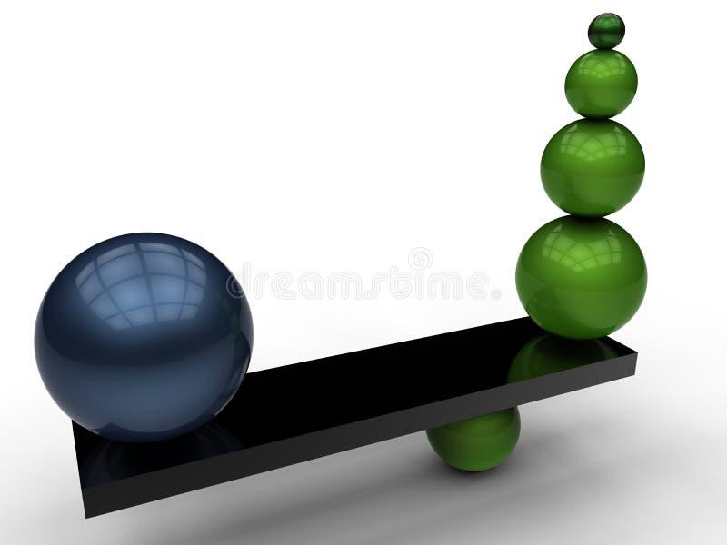Concepto perfecto de la balanza ilustración del vector