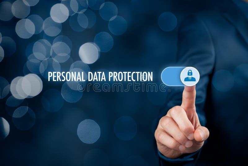 Concepto personal de la protección de datos foto de archivo