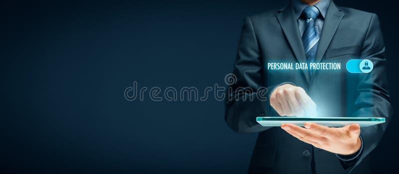 Concepto personal de la protección de datos imagenes de archivo