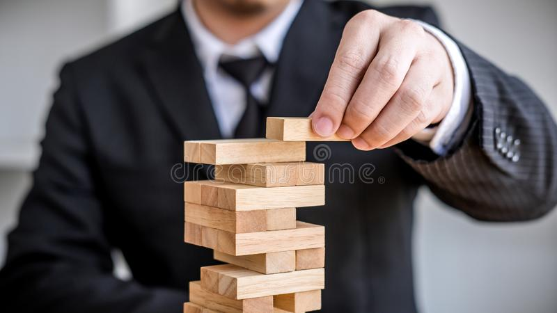 Concepto, plan y estrategia alternativos del riesgo en el negocio, riesgo para hacer concepto del crecimiento del negocio con los imágenes de archivo libres de regalías