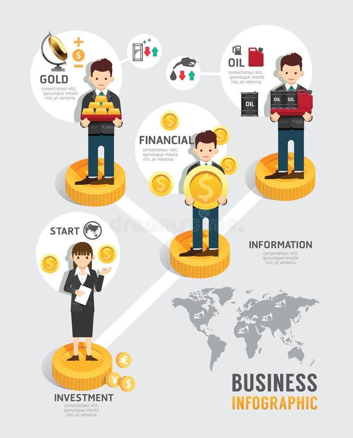Concepto plano de los iconos del juego de mesa de los fondos de inversión empresarial libre illustration