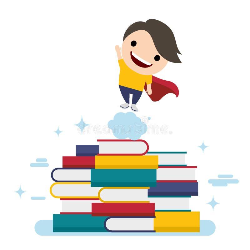 Concepto plano del ejemplo del vector del diseño de educación del valor, conocimiento, pasos para las carreras acertadas, desarro libre illustration