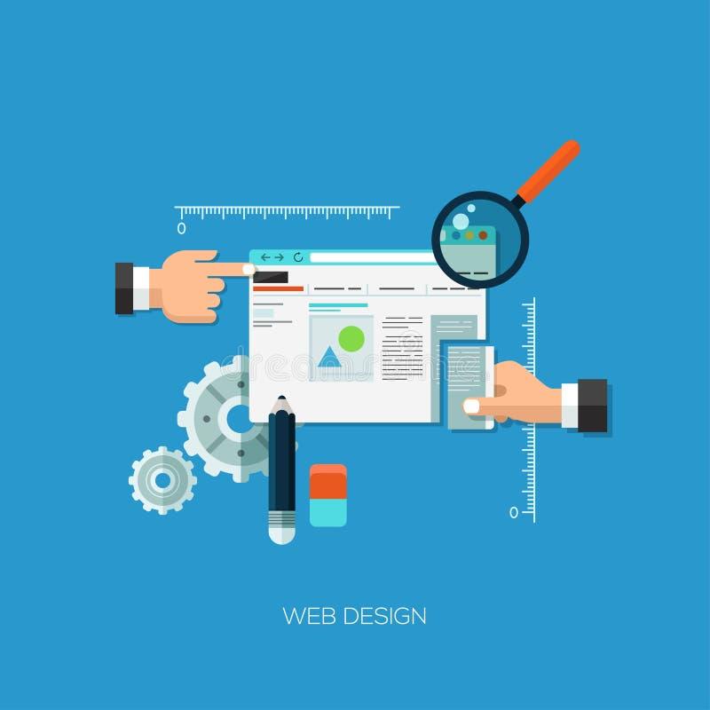 Concepto plano del ejemplo del vector para el diseño web ilustración del vector