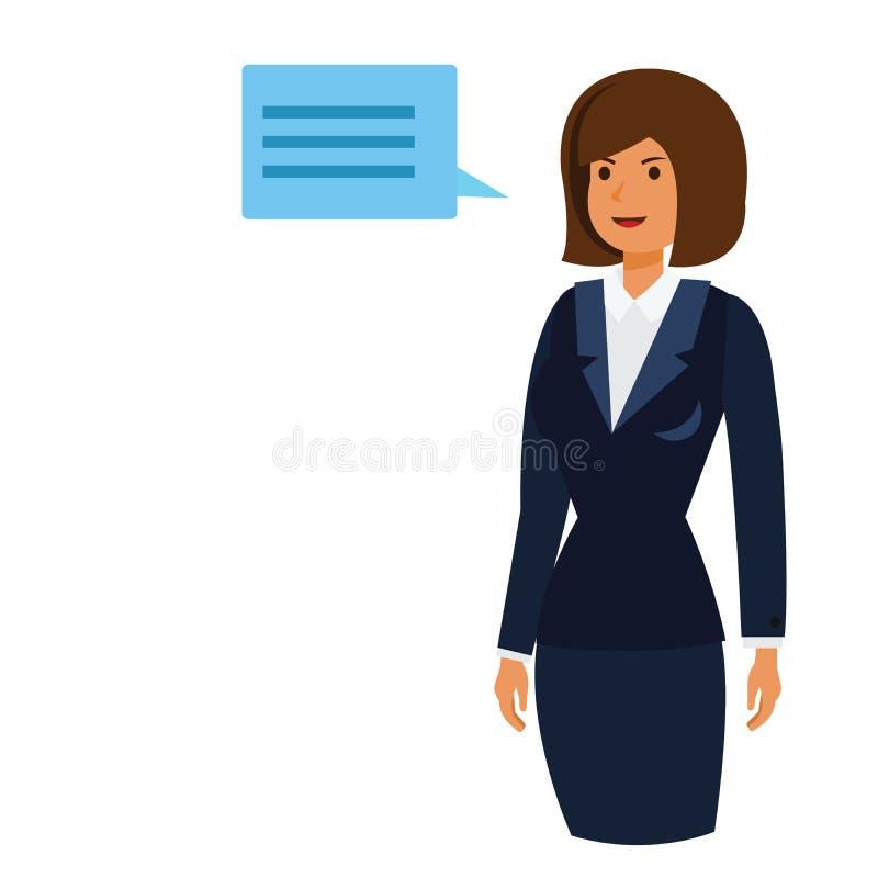 Concepto plano del ejemplo del vector de la historieta de la mujer del dueño del CEO libre illustration