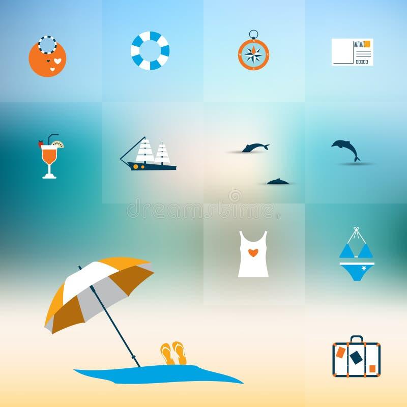 Download Concepto Plano Del Icono Del Verano Ilustración del Vector - Ilustración de ocio, reconstrucción: 42443635