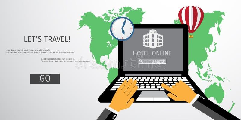 Concepto plano del vector de World Travel y de turismo libre illustration