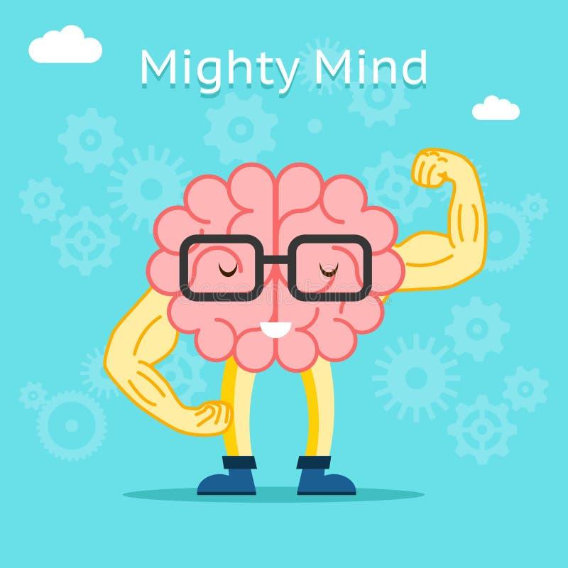 Concepto poderoso de la mente Cerebro con gran creativo libre illustration