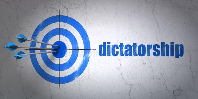 Concepto político: blanco y dictadura en fondo de la pared ilustración del vector