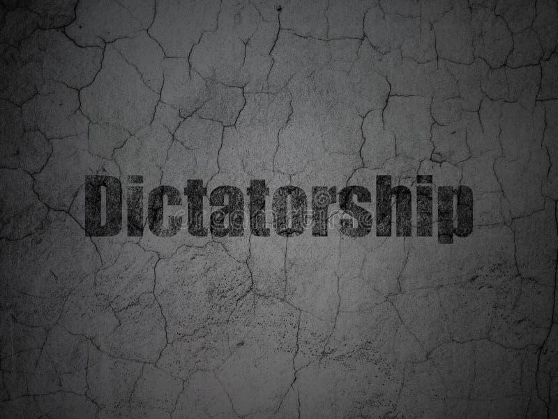 Concepto político: Dictadura en fondo de la pared del grunge ilustración del vector