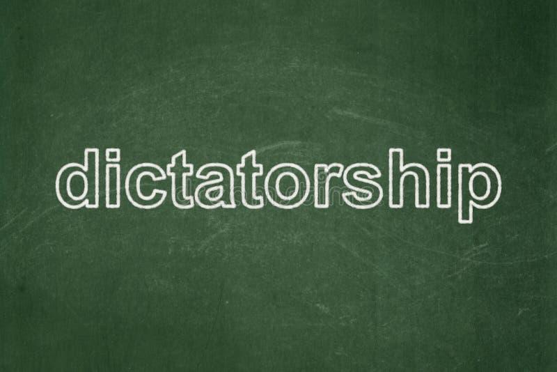 Concepto político: Dictadura en fondo de la pizarra ilustración del vector