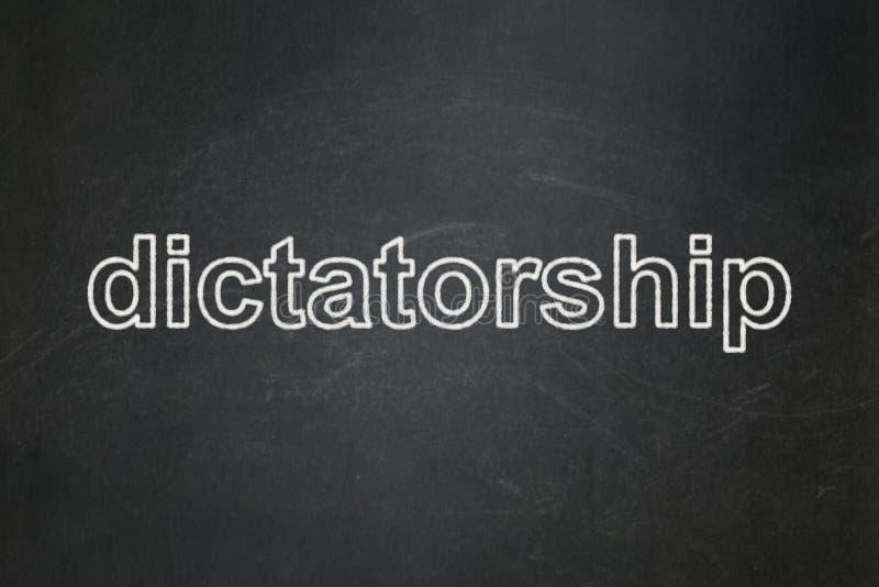 Concepto político: Dictadura en fondo de la pizarra stock de ilustración