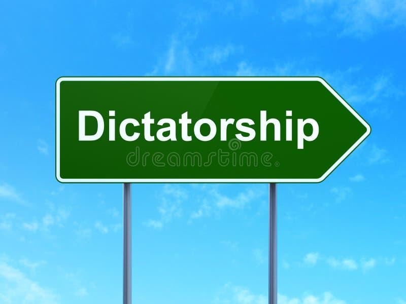 Concepto político: Dictadura en fondo de la señal de tráfico libre illustration