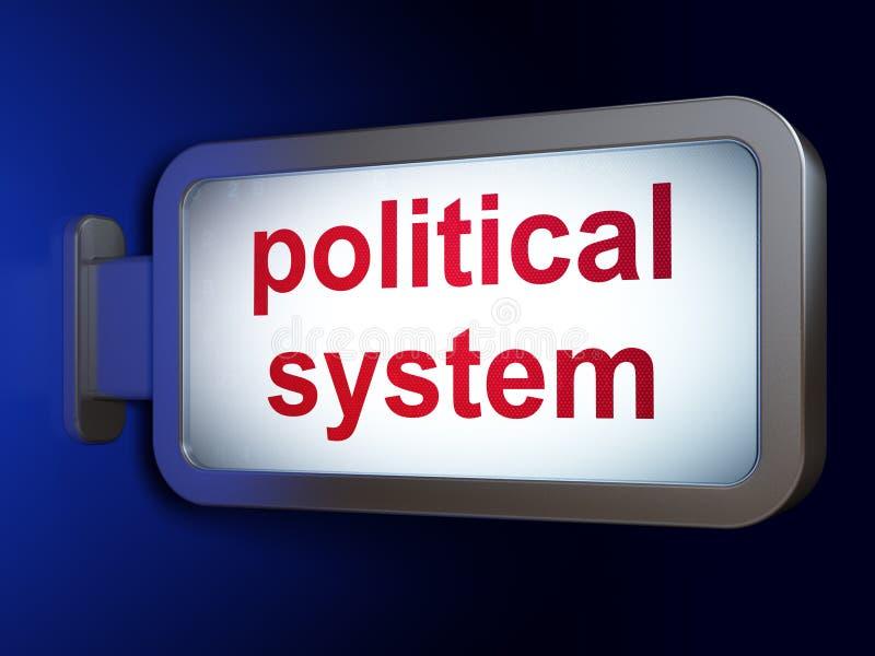 Concepto político: Sistema político en fondo de la cartelera ilustración del vector