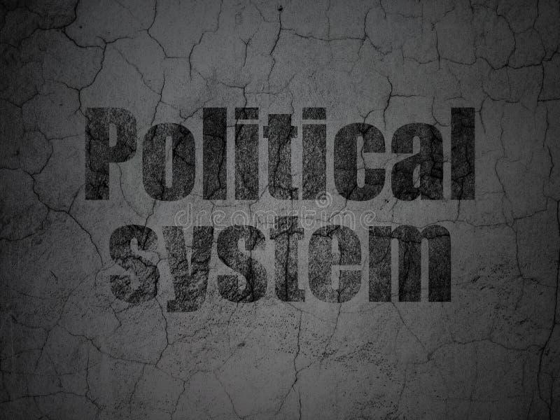 Concepto político: Sistema político en fondo de la pared del grunge stock de ilustración