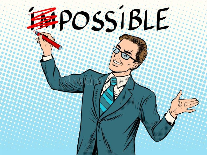 Concepto posible imposible del negocio ilustración del vector