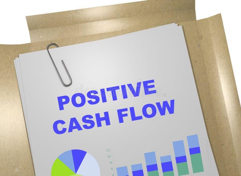 Concepto positivo del flujo de liquidez stock de ilustración